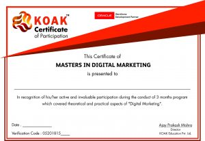KOAK's Digital Marketing Certificate